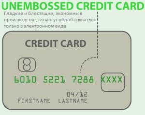 Карта Visa Unembossed