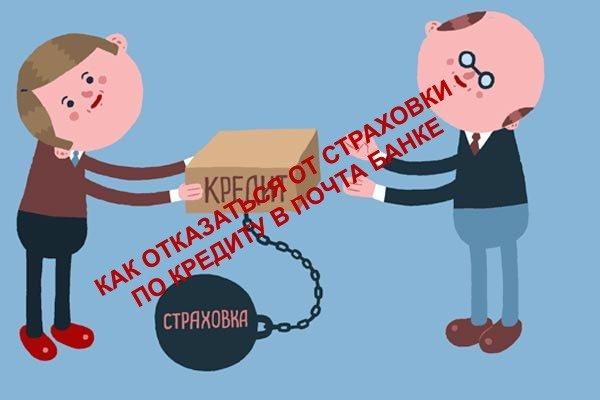 Отказ от страховки Почта Банка